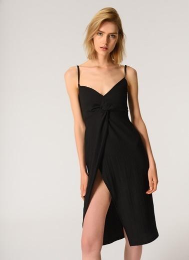 Morhipo Beach Kadın Askılı Elbise MBKSS21EL0008 Siyah